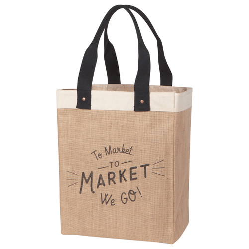 Market Tote - To The Market We Go!