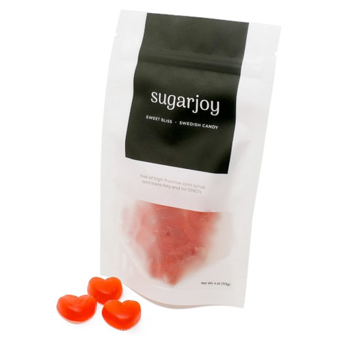 Raspberry Hearts Gummies, 4oz