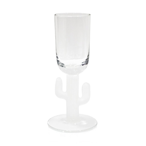 Cabo Cactus Shot Glass - Frosted