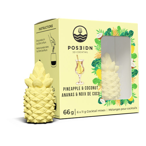 Pineapple & Coconut 3D Cocktail, 6 Pack