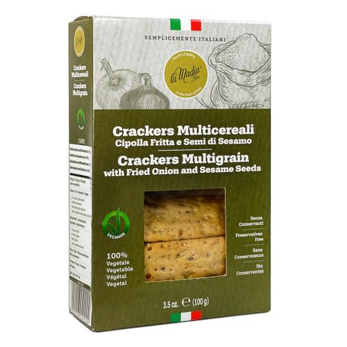 Multigrain Crackers - Fried Onion & Sesame Seeds, 100g