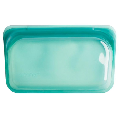 Reusable Silicone Snack Bag - Small, Waterfall Green