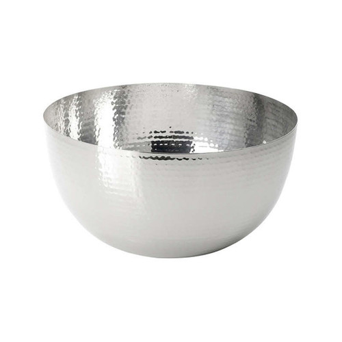 Raindrop Serving Bowl - Hammered Stainless Steel, 10-in