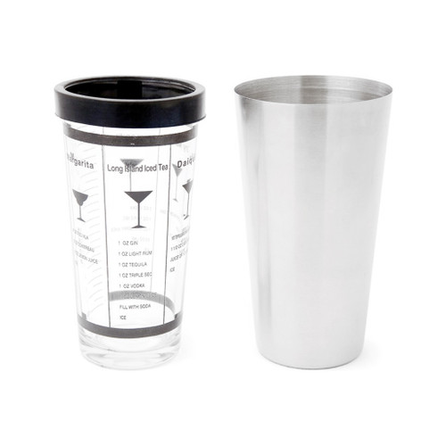 Boston Cocktail Shaker - Stainless + Glass, 2 Piece