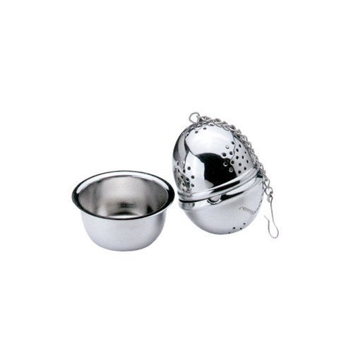 Tea Infuser Ball with Caddy - Stainless Steel