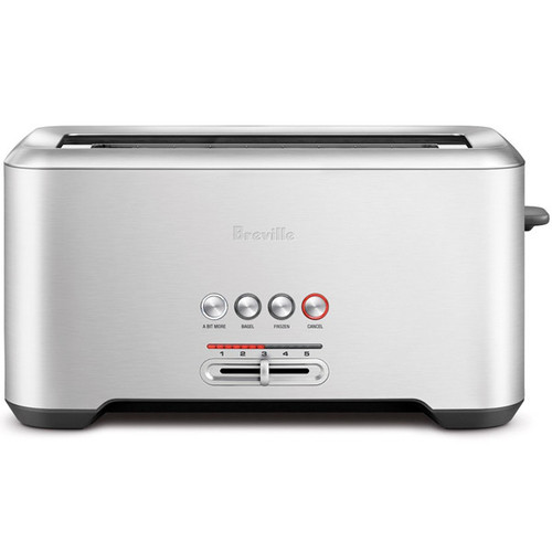 Bit More Long-Slot 4-Slice Toaster - Stainless Steel