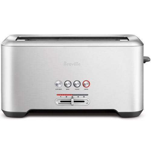 Bit More Long-Slot 4-Slice Toaster - Stainless Steel