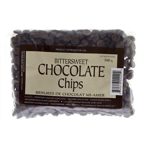 Bittersweet Chocolate Chips, 500g