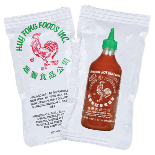 Sriracha Hot Sauce Packets, Pack of 50