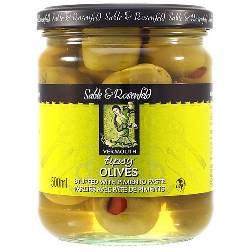 Tipsy Olives with Pimento Paste, 500ml