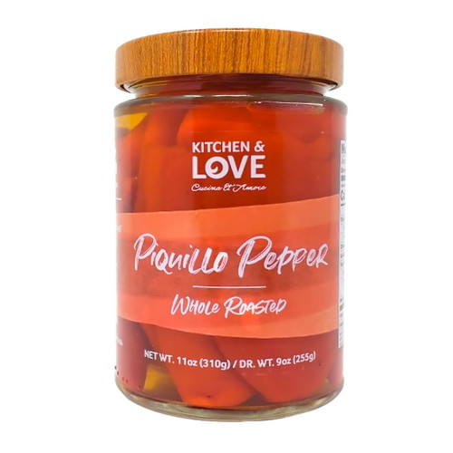 Piquillo Pepper - Whole Roasted in Brine, 11oz