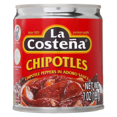Chipotle Peppers in Adobo Sauce, 186ml