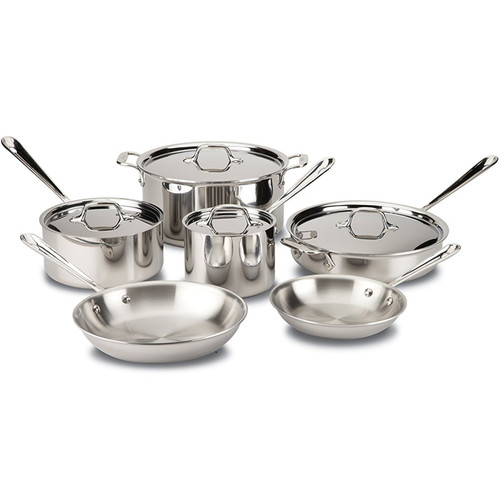 Cookware Set - Tri-ply Stainless Steel, 10-Piece