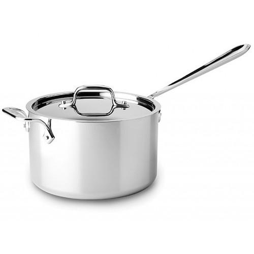 Saucepan - Tri-Ply Stainless Steel, 4Qt