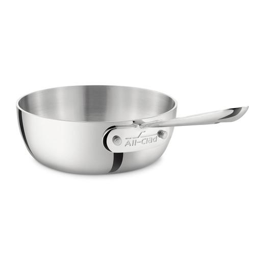 Saucier Pan - Tri-Ply Stainless Steel, 1Qt