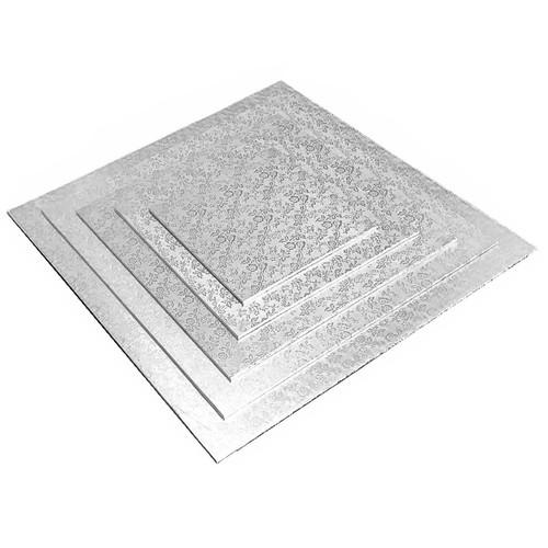 Cake Board - Square Silver, 14-in