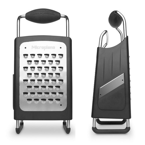 Four Blade Four Sided Box Grater - Black