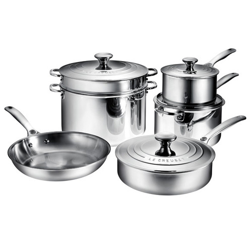 Cookware Set - Tri-Ply Stainless, 10-Piece