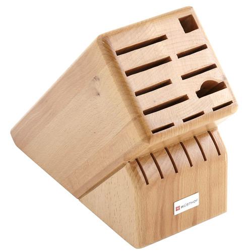 Knife Block - Beechwood, 17 Slots
