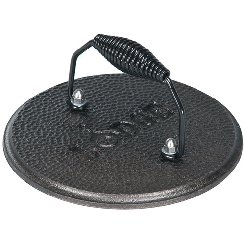 Pre-Seasoned Round Grill Press, 7.5-in