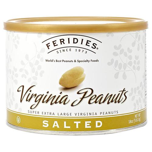 Salted Virginia Peanuts, 18oz