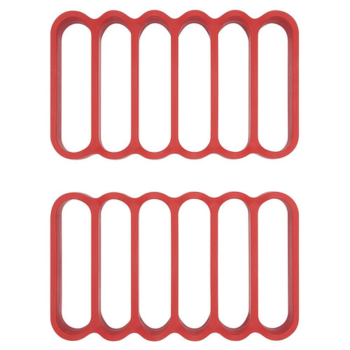 Silicone Roasting Racks - Red, 2-Pack