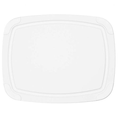 White Poly Cutting Board - Non-Slip Corners, 11.5x9-in