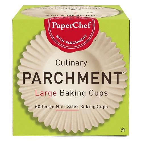 Baking Cups Non-Stick Parchment  - Large, 60-Cups