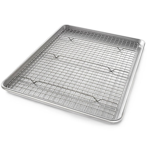 Half Sheet Nonstick Cooling Rack and Pan Set