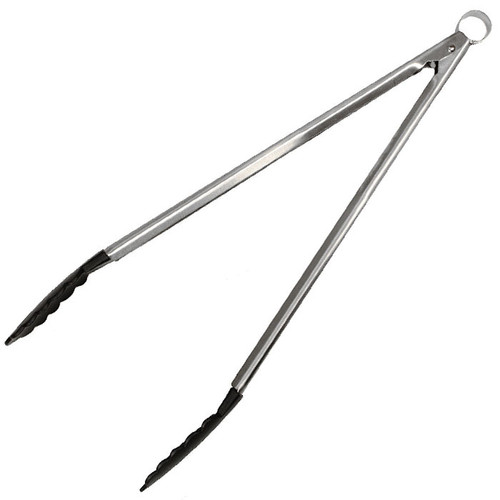 Locking Tongs Stainless - Black Nylon, 16-in