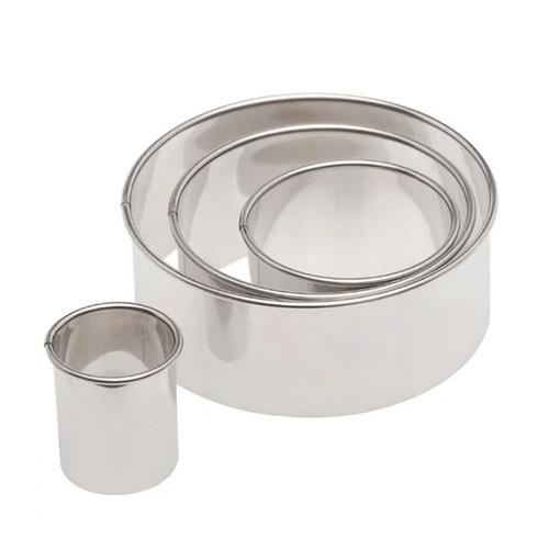 Round Plain Cutter Set - Stainless Steel, 4-Piece