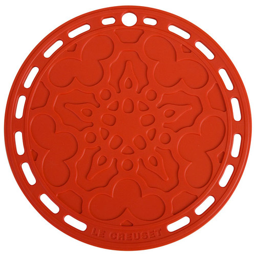 Cerise Silicone French Trivet, 8-in