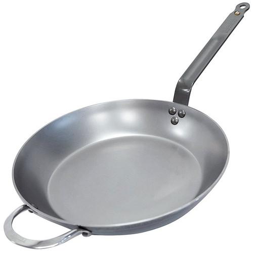 Steel Fry Pan with Helper Handle - Mineral B Element, 32cm