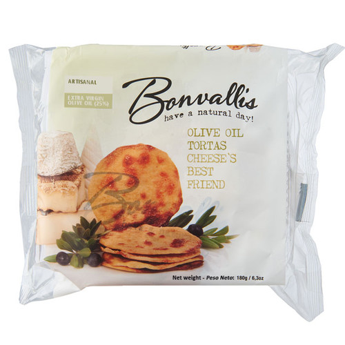 Tortas Crackers - Extra Virgin Olive Oil, 180g