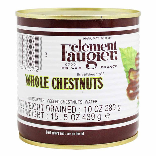 Whole Peeled & Cooked Chestnuts - in Water, 439g