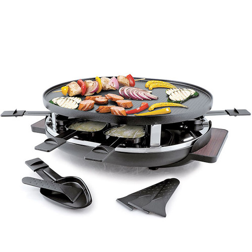 Matterhorn Raclette Party Grill - Black, 8-Person