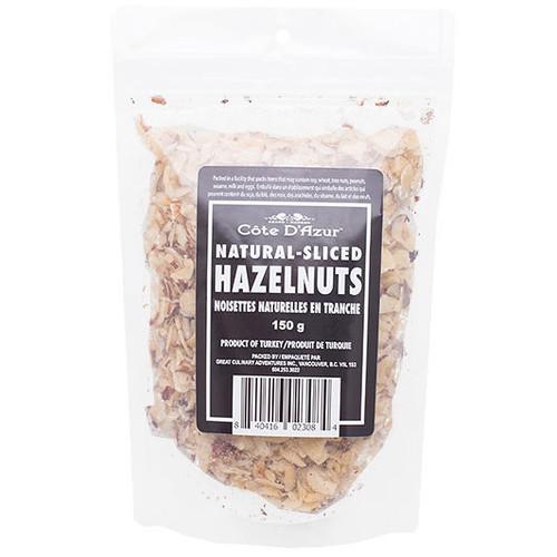 Hazelnuts - Natural Sliced, 150g