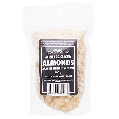 Almonds - Skinless Sliced, 200g