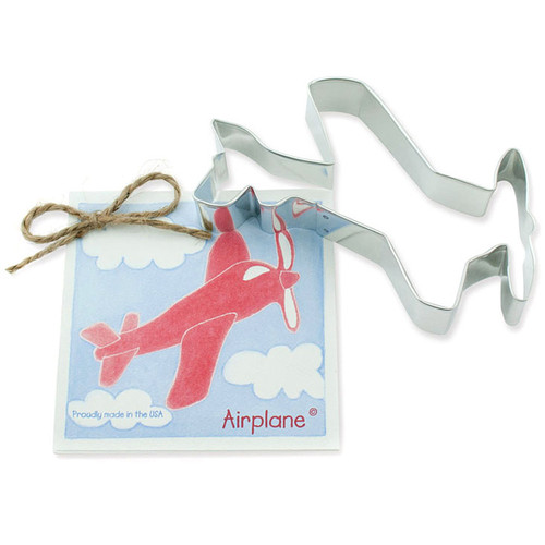 Airplane Cookie Cutter - Traditional, 4.75-in