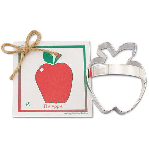 Apple Cookie Cutter - Traditional, 3.5 x 3-in