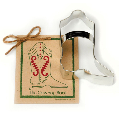 Cowboy Boot Cookie Cutter - Traditional, 4.75-in