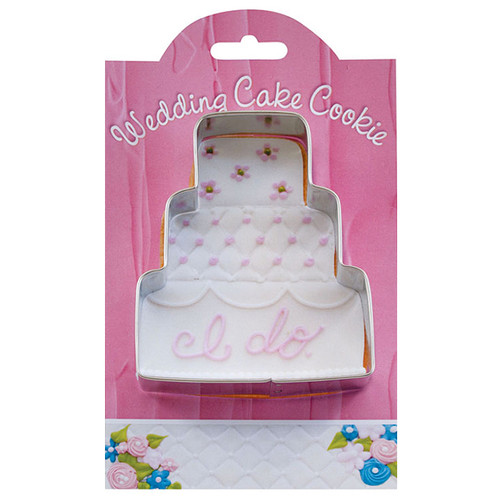 Wedding Cake Cookie Cutter, 4-in