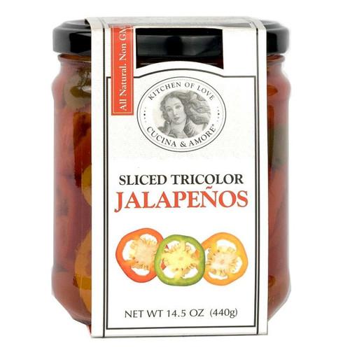 Jalapenos Tricolor - Sliced, 440g