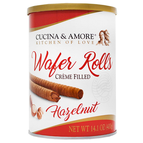 Wafer Rolls - Hazelnut Cream Filled, 400g