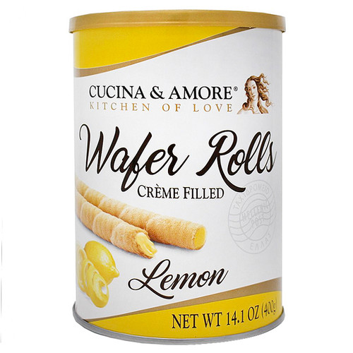 Wafer Rolls - Lemon Cream Filled, 400g