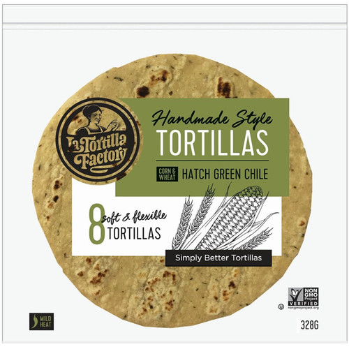 Hatch Green Chile Tortillas, Pack of 8
