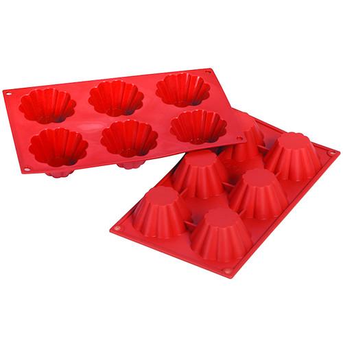 Brioche Mold - Silicone Pro Series, 6 Cavities