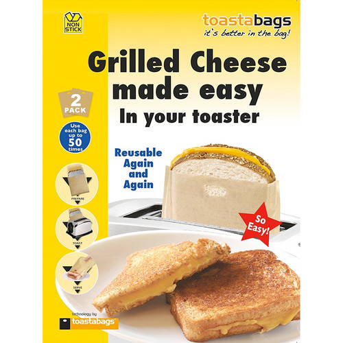 Toastabags Reusable Non-Stick Toaster Bags, Set of 2