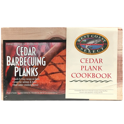Cedar BBQ Planks with Cookbook, Pack of 2
