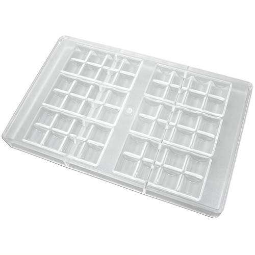Polycarbonate Mold - Rounded Square Bar, 6 Bars per Tray
